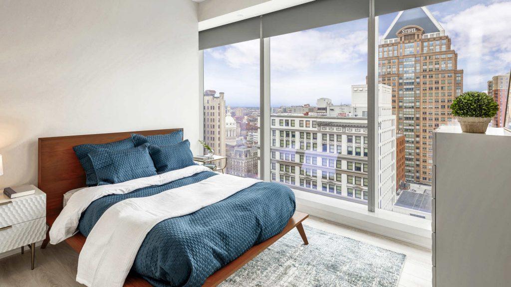 luminary apartments baltimore bedroom