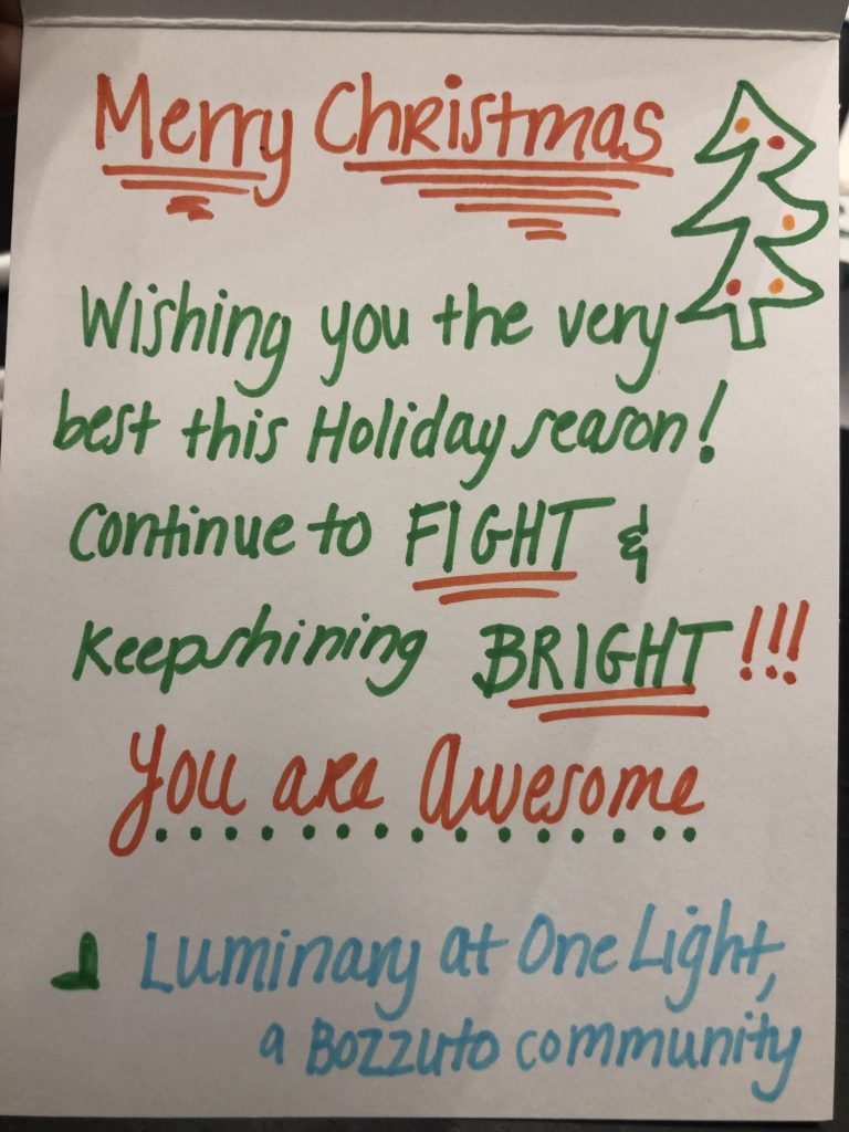 Luminary community crafts holiday cards for Cool Kids Campaign